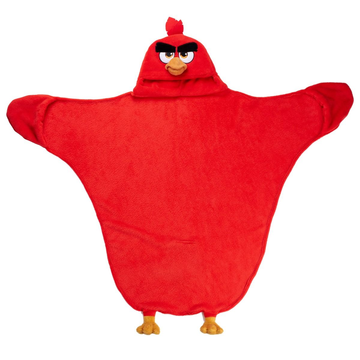 Red Angry Birds Costume Blanket For Kids Fin Fun