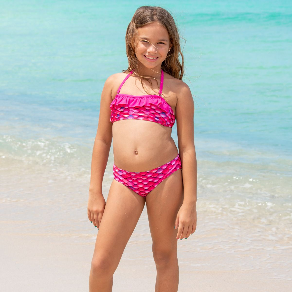 Pink bikini girls