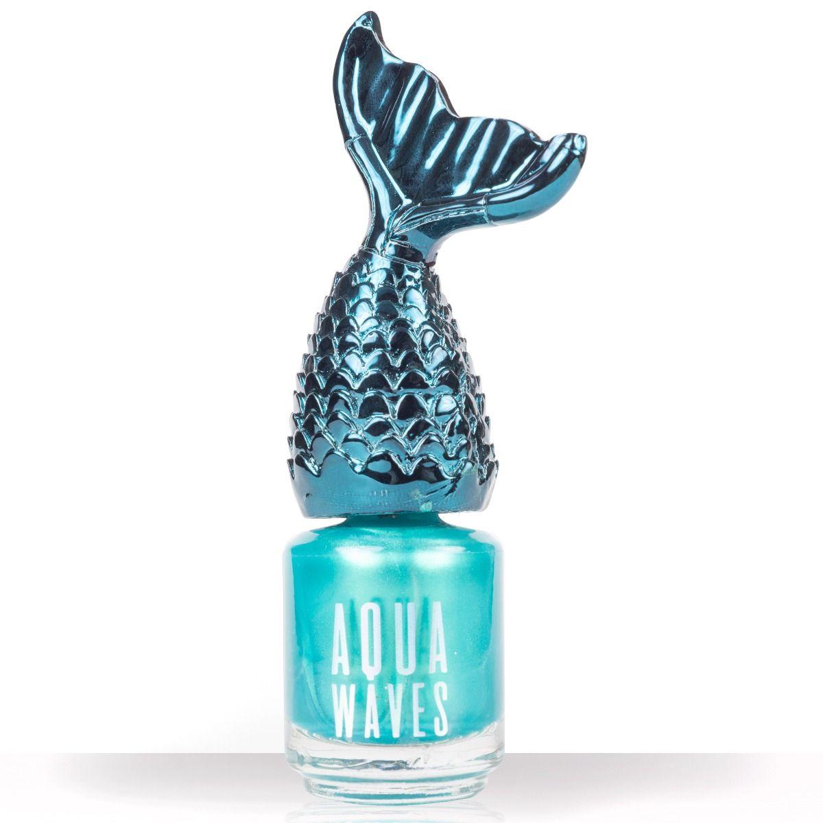 Blue Mermaid Tail Nail Polish | Aqua Waves Nail Polish by NPW | Fin Fun