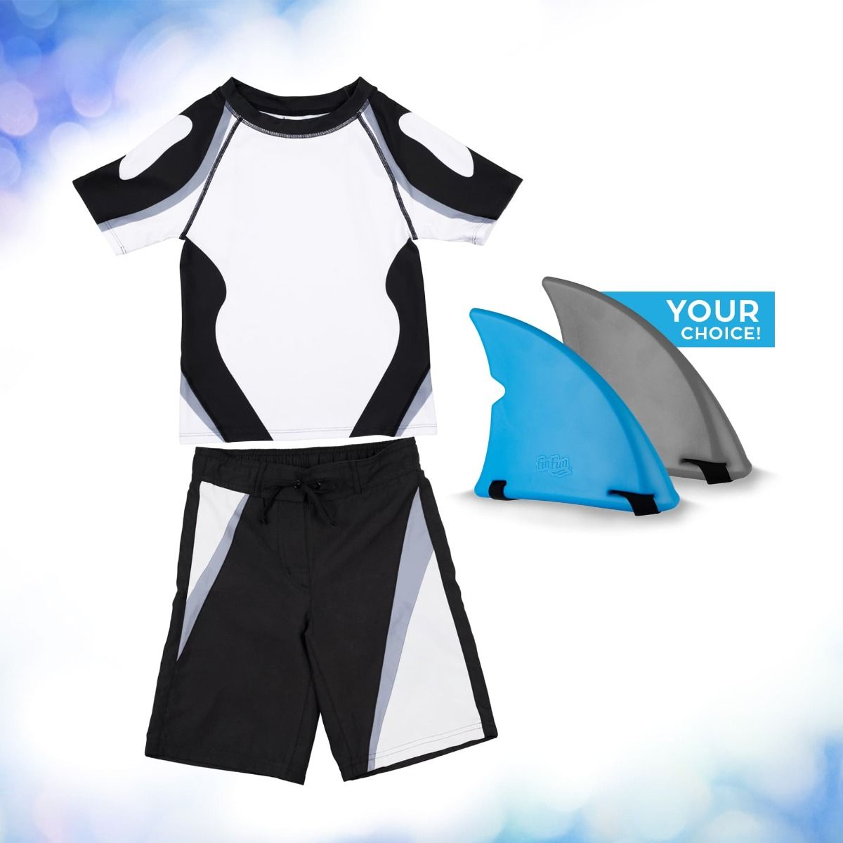 Orca Swimsuit Gift Set For Kids