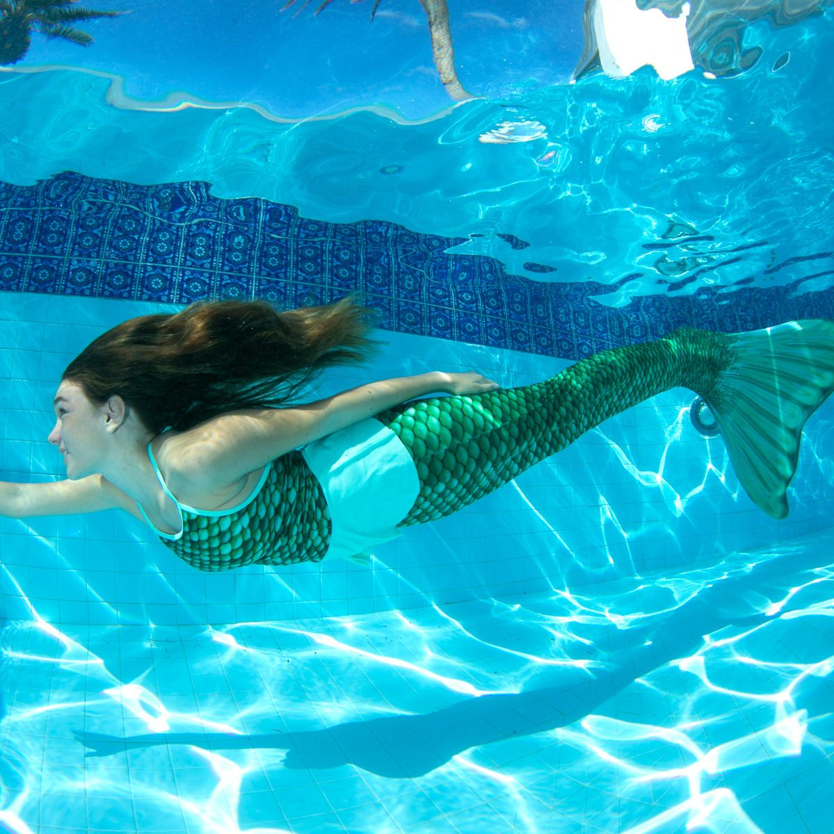 Celtic Green Mermaid Tail for Swimming | Swimmable Mermaid ...  Celtic Green Me...