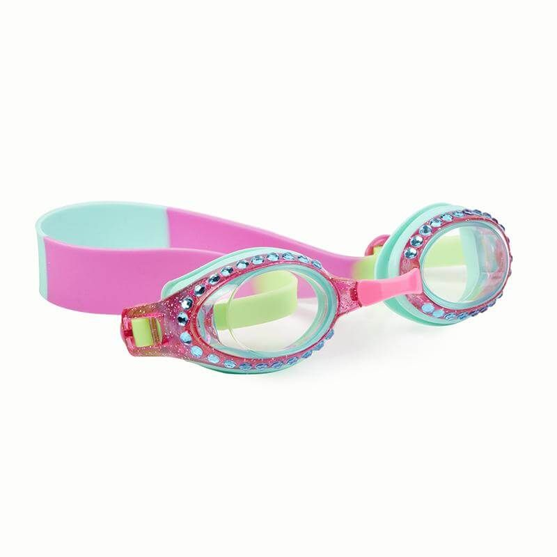 e3a72d25bc5 Mint and Pink goggles with lime green for kids glittery ...