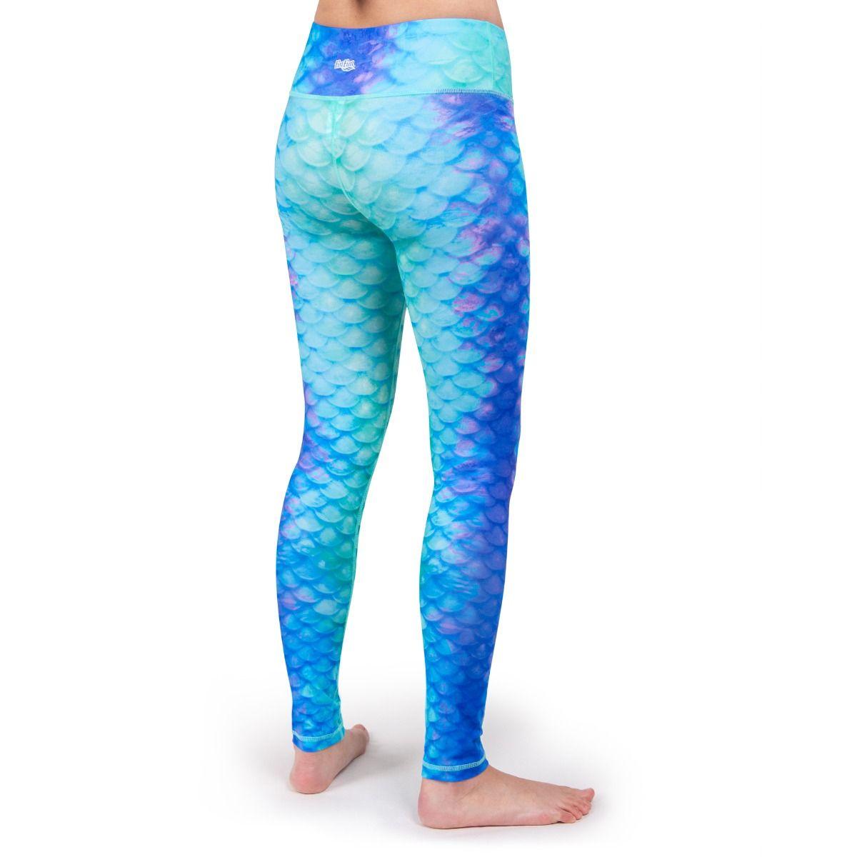 ac2af32081 Mermaid Scale Leggings | Pacific Pearl Mermaid Yoga Leggings by Fin Fun
