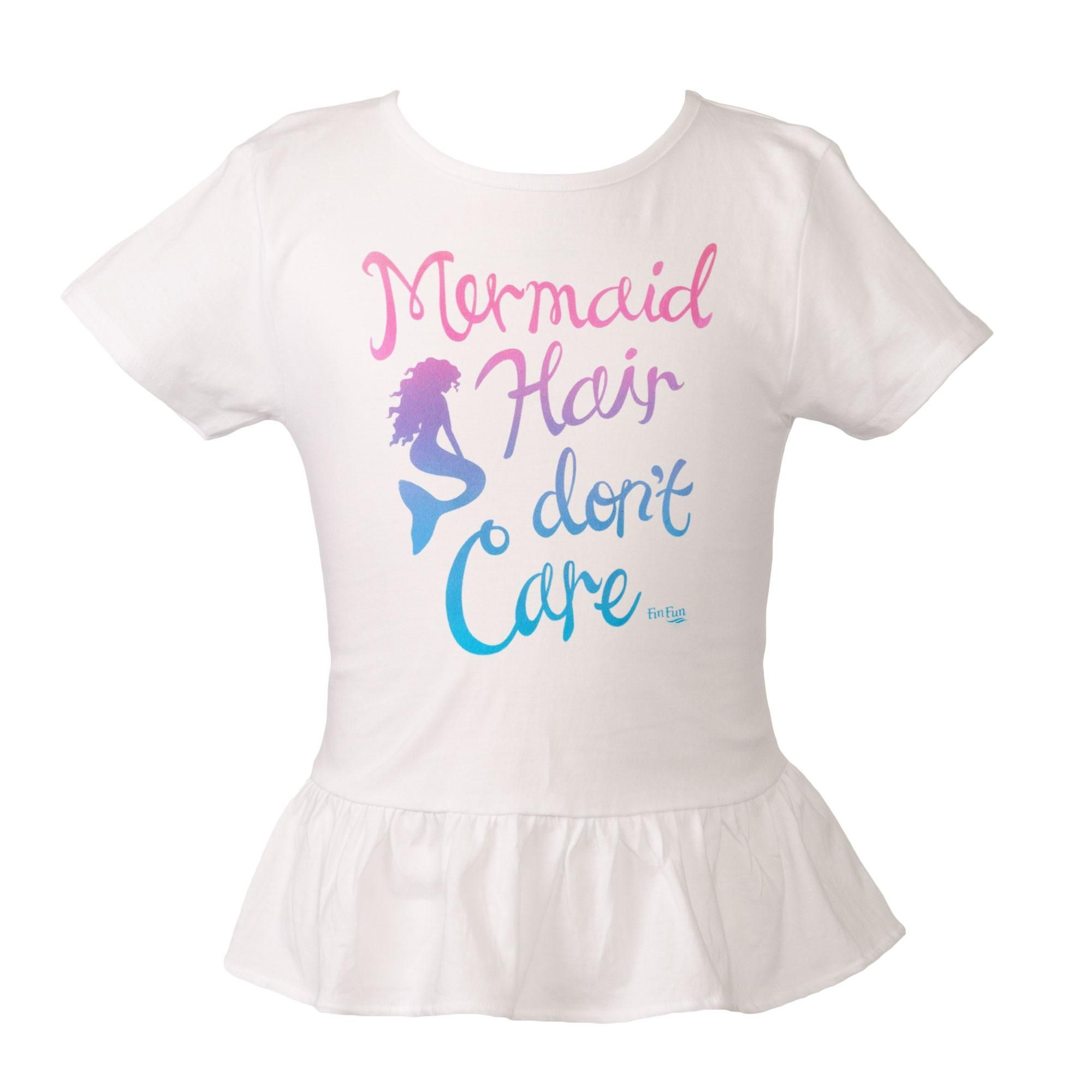 7716f6905 Kids Mermaid Hair Don't Care Tee - White. Tap to expand