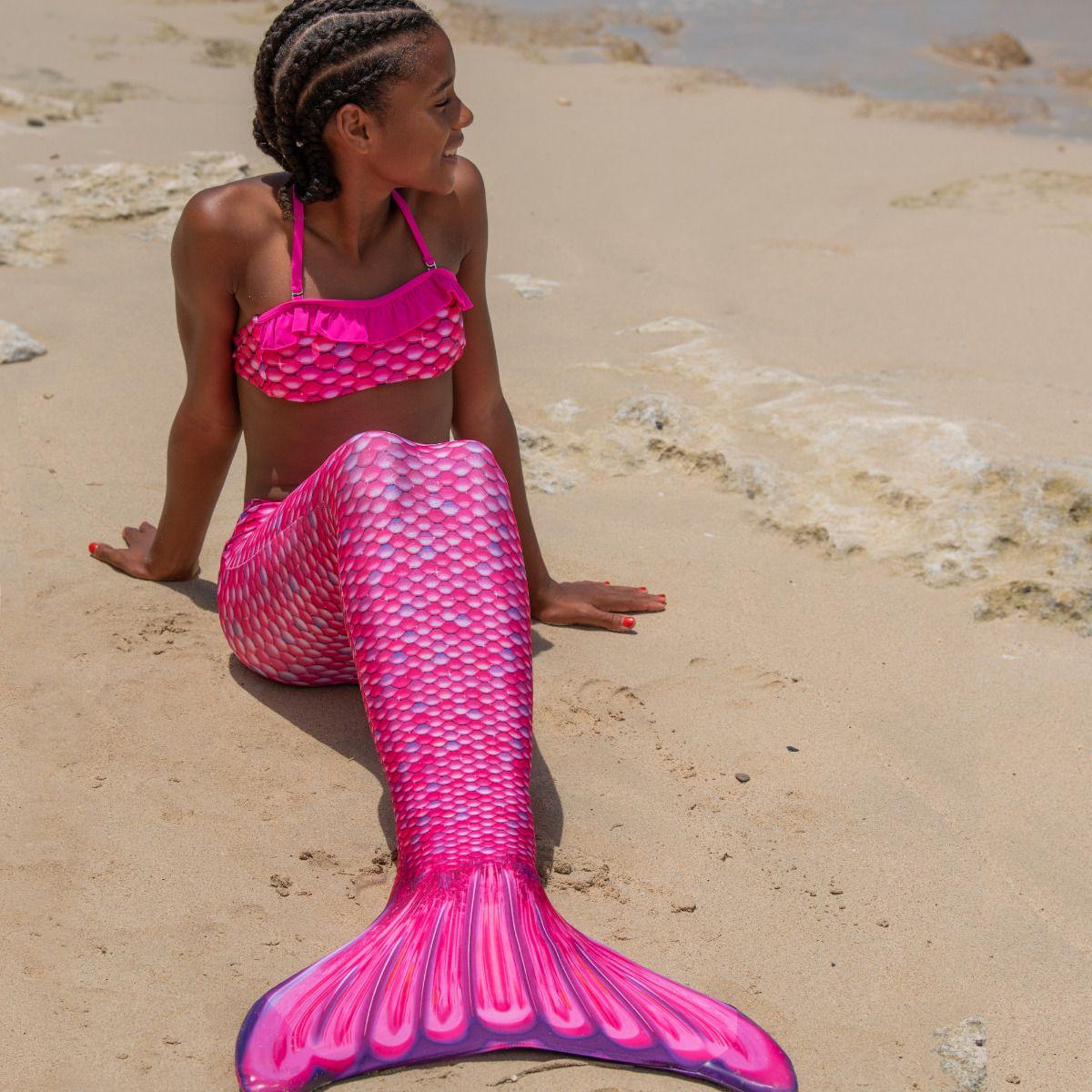 7e9128235a1ab ... Malibu Pink Bandeau Bikini Top
