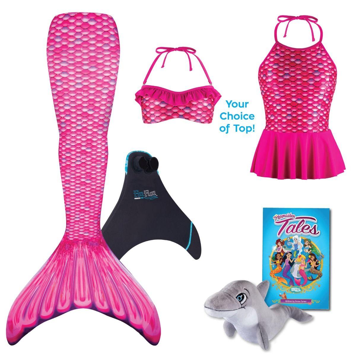 a41e1a131bfaf Mermaid Gifts for Kids | Malibu Pink Mermaid Tail Gift Set | Fin Fun