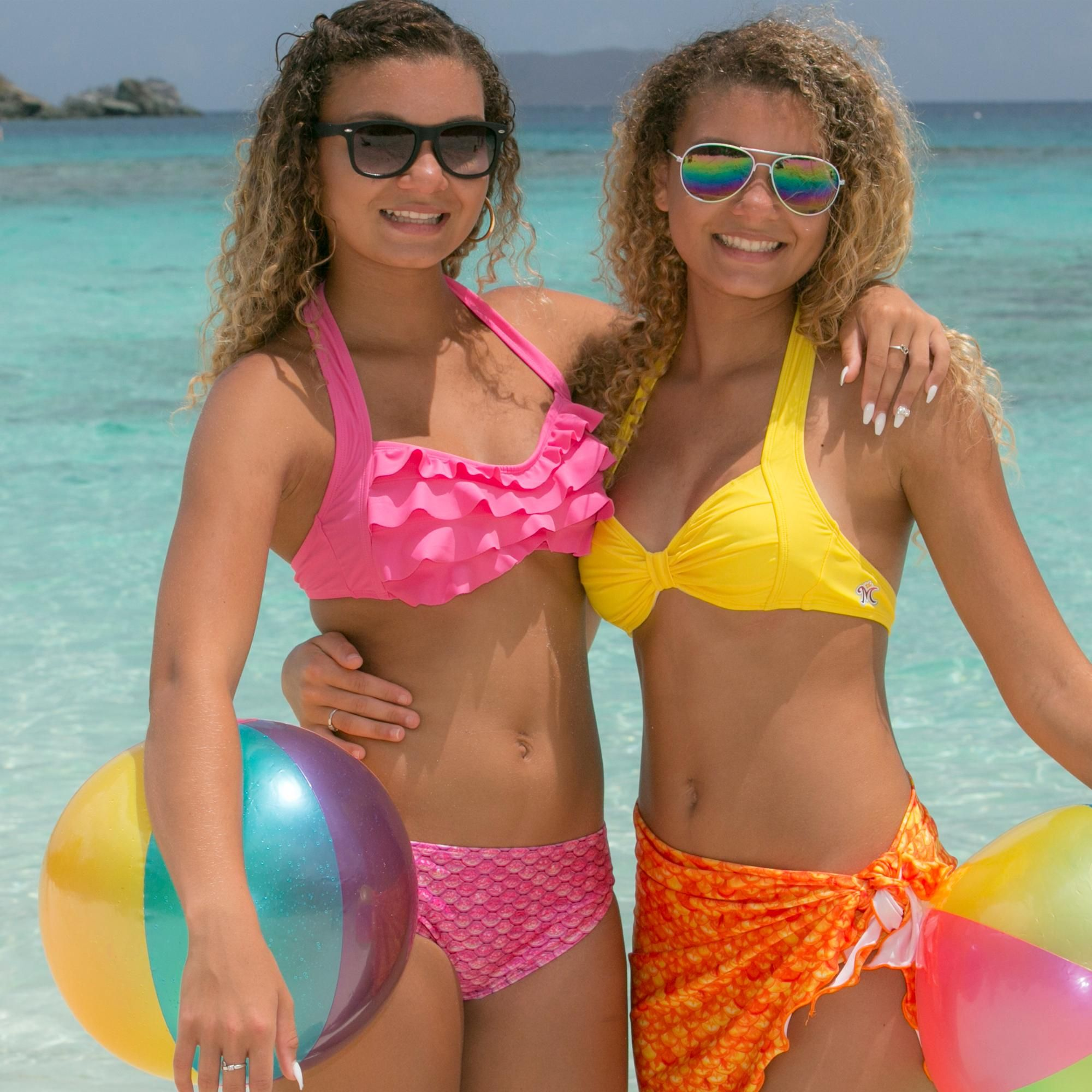 9a352d569c436 Mermaid Sea Wave Bikini Top in Pink