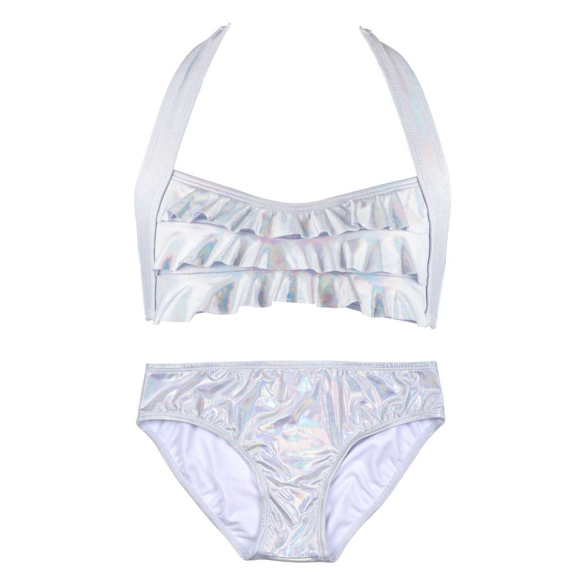 aa2063adee782 Iridescent Silver Sea Wave Bikini Set. Tap to expand