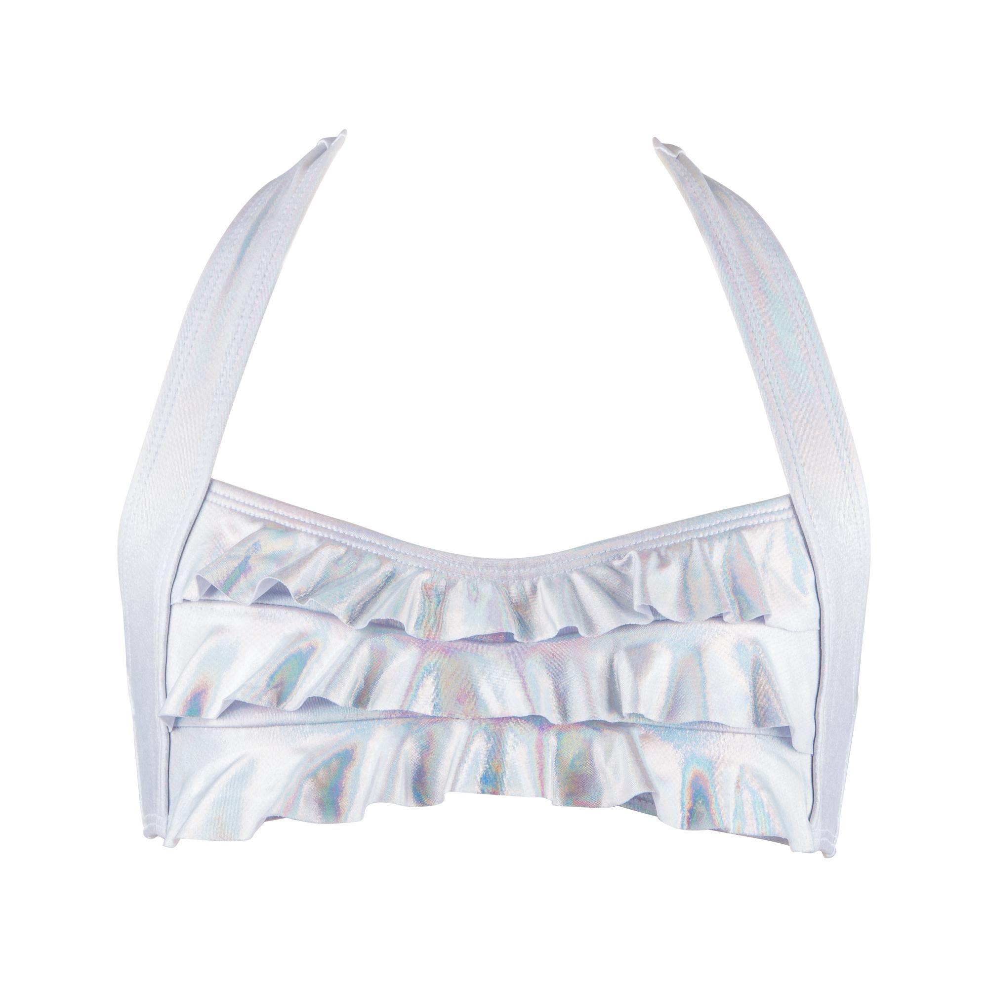605435485dbbe8 Mermaid Sea Wave Bikini Top in Iridescent