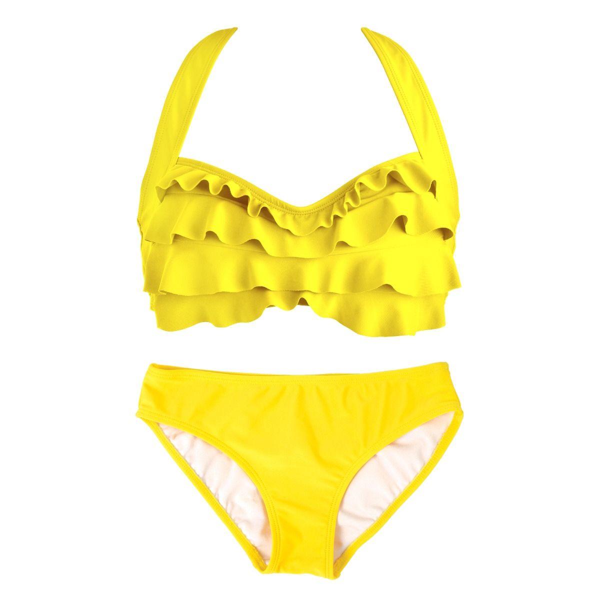 3652cc8b76d Yellow Sea Wave Bikini Swimset for Girls & Women  By Fin Fun