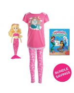 Mermaid Pajama & Waverlee Doll Gift Set
