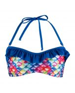 New Rainbow Reef Bandeau Bikini Top