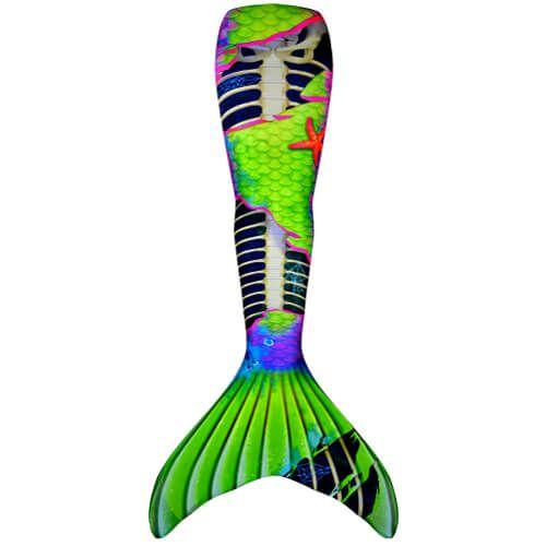 Neon Skeletail Mermaid Tail