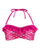 New Malibu Pink Bandeau Bikini Top