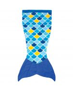 Cuddle Tails Mermaid Tail Blanket in Wave Blue