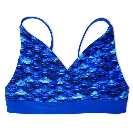 Girls Arctic Blue Bikini Top