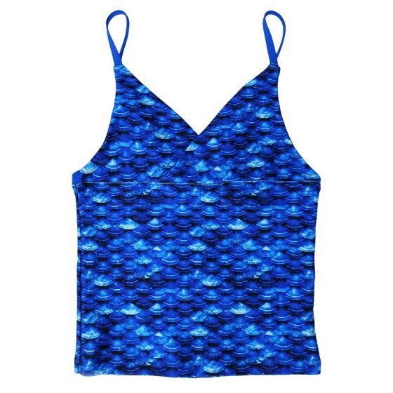 Girl Arctic Blue Tankini Top
