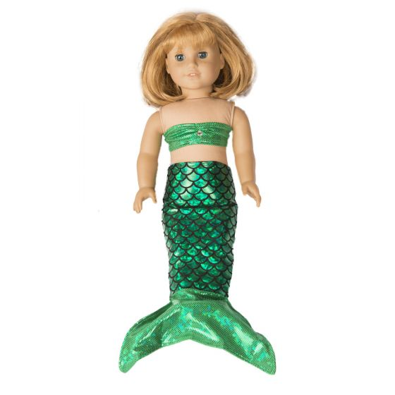 Ariel Green Doll Tail and Top - 18 inch