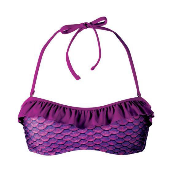 Asian Magenta Bandeau Bikini Top