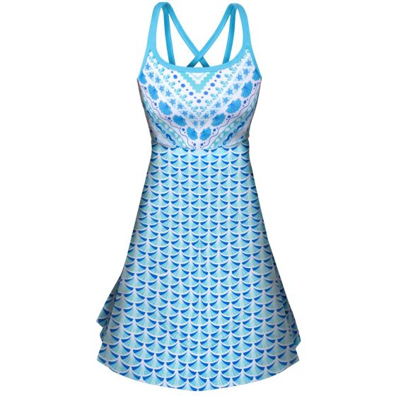 a blue and white sundress for girls