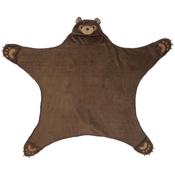 Wild Things Timber Brown Bear Blanket