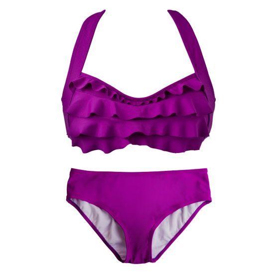 Grape Sea Wave Bikini Set
