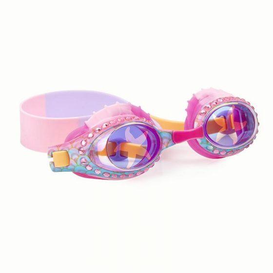 swim goggles for girls with starfish designs and rhinestones