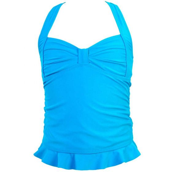 Blue Clamshell Tankini Top