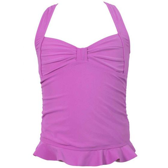 Light Purple Clamshell Tankini Top