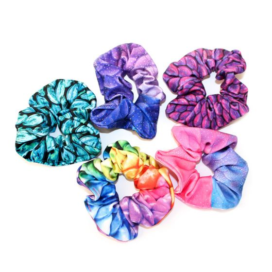 Assorted Swimmable Mermaid Scrunchies—Pack of 5