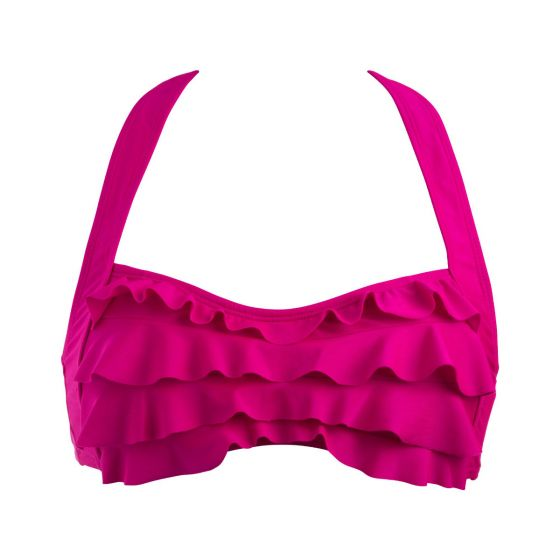 Raspberry Pink Sea Wave Bikini Top