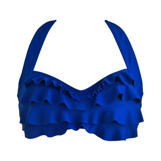 Royal Blue Sea Wave Bikini Top