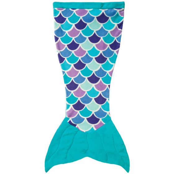 Cuddle Tails Mermaid Tail Blanket in Aqua Dream