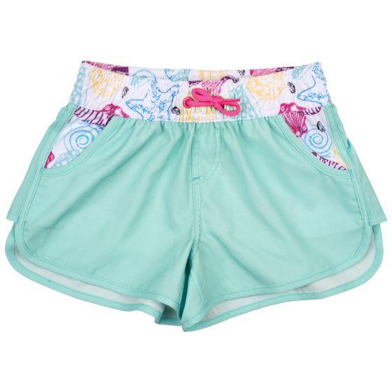 Girls' Swim Shorts in Mint