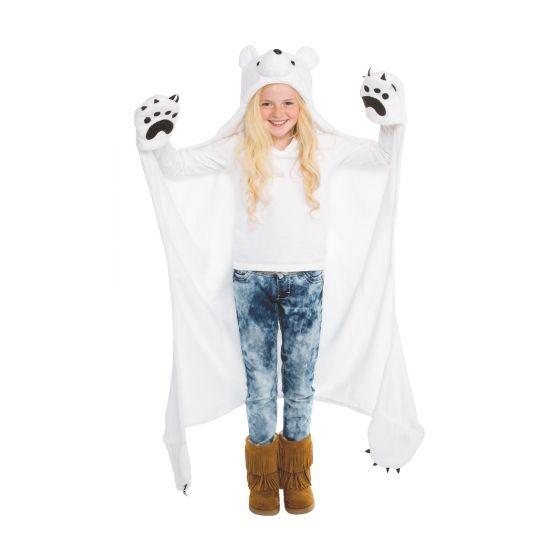 girls polar bear blanket