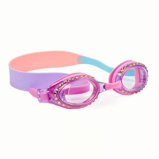 Classic Glitter Swim Goggles: Purple Haze