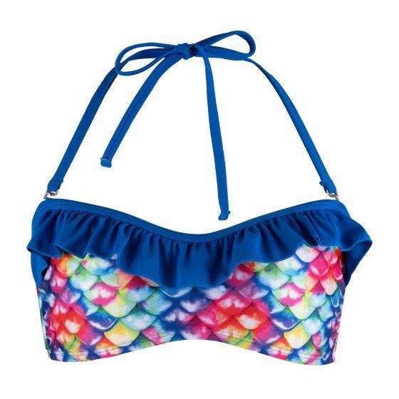Rainbow Reef Bandeau Bikini Top - Youth XS
