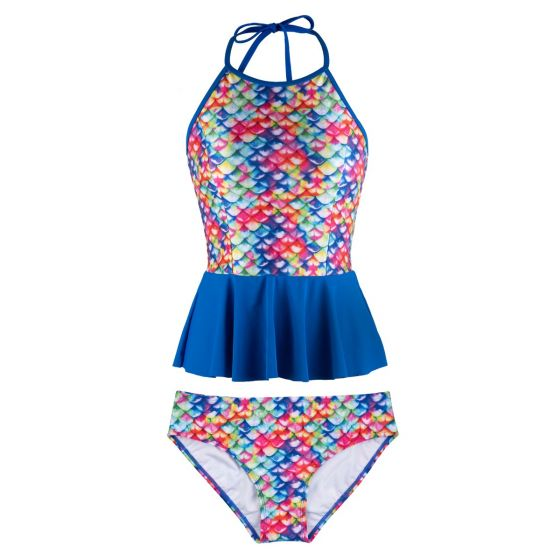 rainbow reef peplum tankini set