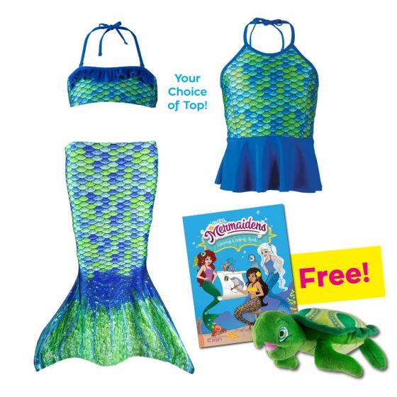 Toddler Mermaidens Bundle: Aussie Green