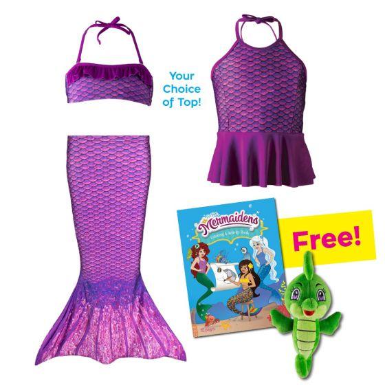Toddler Mermaidens Bundle: Asian Magenta