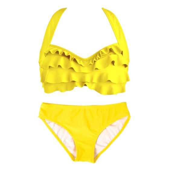 Yellow Sea Wave Bikini Set