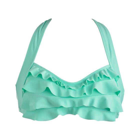 Mint Sea Wave Bikini Top