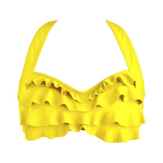 Yellow Sea Wave Bikini Top