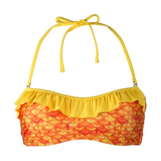 Tropical Sunrise Bandeau Bikini Top