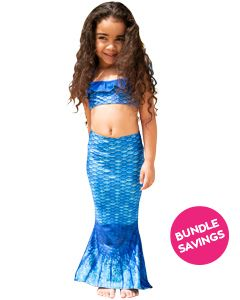 Arctic Blue Toddler Tail & Bandeau Set