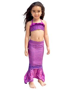 Asian Magenta Toddler Tail & Bandeau Set