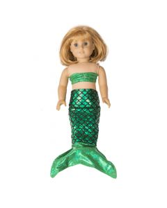 Ariel Green Doll Tail and Top for 18 inch dolls