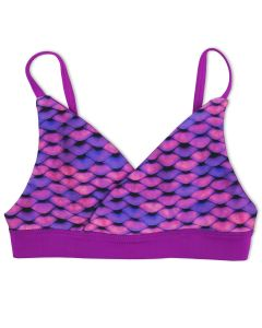 Girls Asian Magenta Reversible Bikini Top