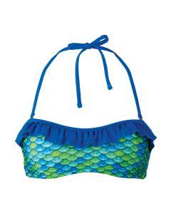 Aussie Green Bandeau Bikini Top