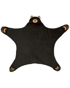 Wild Things Cinder Black Bear Blanket